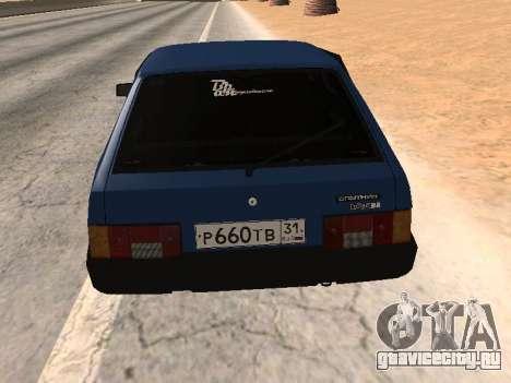 ВАЗ 2108 Синяя дюжина для GTA San Andreas вид слева