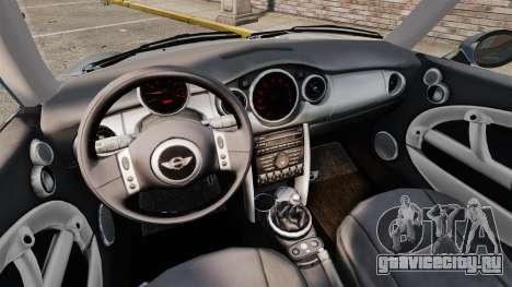 Mini Cooper S 2008 v2.0 для GTA 4 вид изнутри