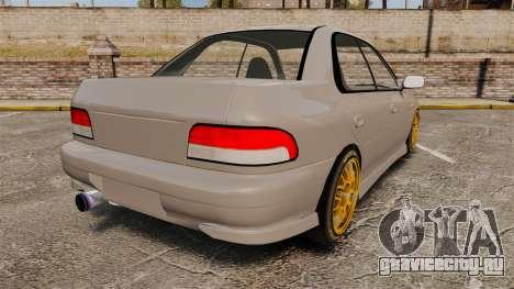 Subaru Impreza WRX STI 1999 [Final] для GTA 4 вид сзади слева