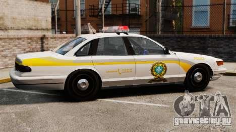 Полиция Квебека для GTA 4 вид слева