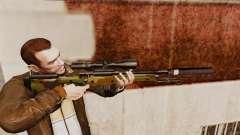 Снайперская винтовка AW L115A1 с глушителем v8