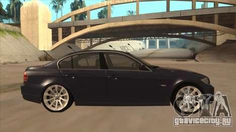 BMW 330 e90 для GTA San Andreas вид сзади слева