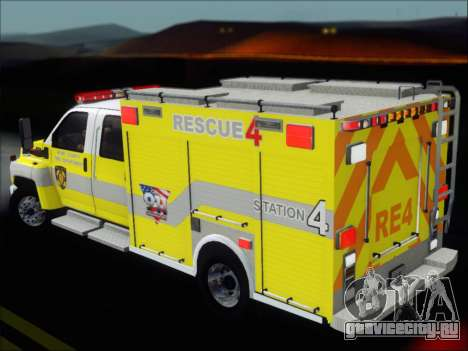 GMC C4500 Topkick BCFD Rescue 4 для GTA San Andreas двигатель