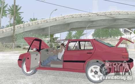 Volkswagen Vento для GTA San Andreas вид снизу