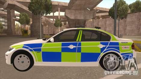 European Emergency BMW 330 для GTA San Andreas вид сзади слева