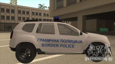 Dacia Duster Granična Policija для GTA San Andreas вид сзади слева