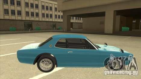Nissan Skyline 2000 GT-R RB26DETT Black Revel для GTA San Andreas вид сзади слева