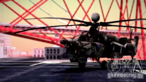 Mi-28N Havoc для GTA San Andreas вид сзади слева