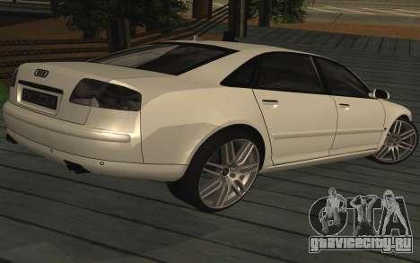 Audi A8L D3 для GTA San Andreas вид слева