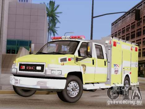 GMC C4500 Topkick BCFD Rescue 4 для GTA San Andreas вид сбоку