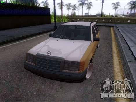 Mercedes-Benz E-Class W124 для GTA San Andreas вид сзади