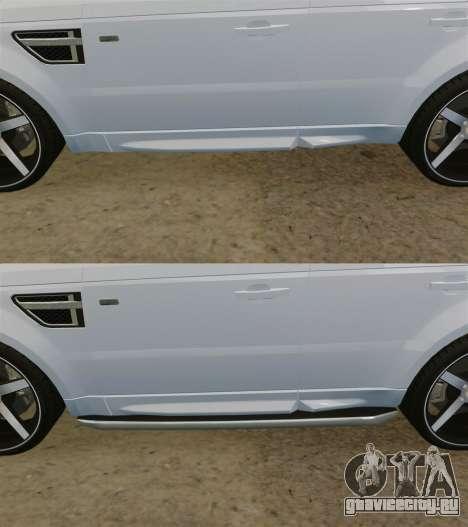 Range Rover Sport Autobiography 2013 Vossen для GTA 4 вид снизу