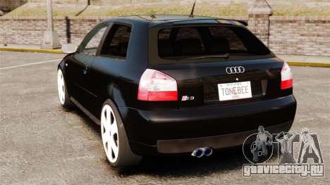 Audi S3 2001 для GTA 4 вид сзади слева