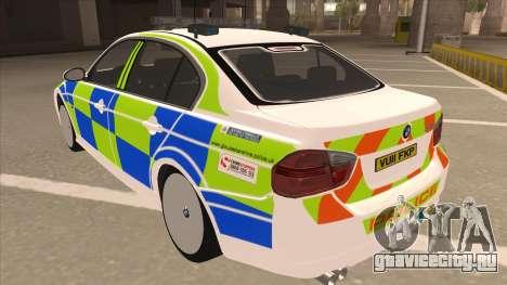 European Emergency BMW 330 для GTA San Andreas вид сзади