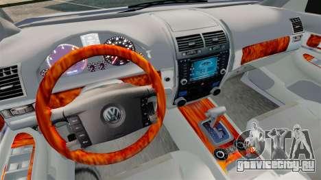Volkswagen Touareg 2002 для GTA 4 вид изнутри