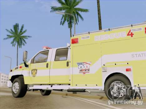 GMC C4500 Topkick BCFD Rescue 4 для GTA San Andreas вид сверху