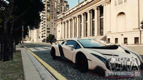Lamborghini Veneno для GTA 4 вид сзади слева