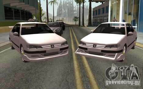 Peugeot 406 Taxi v2 для GTA San Andreas вид слева