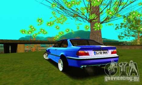 BMW E36 Low and Slow для GTA San Andreas вид сзади слева