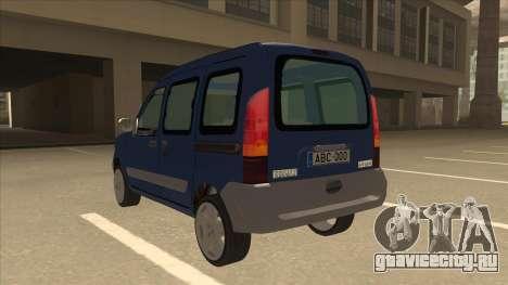 RENAULT KANGOO v2 для GTA San Andreas вид сзади