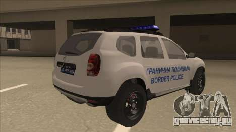 Dacia Duster Granična Policija для GTA San Andreas вид справа