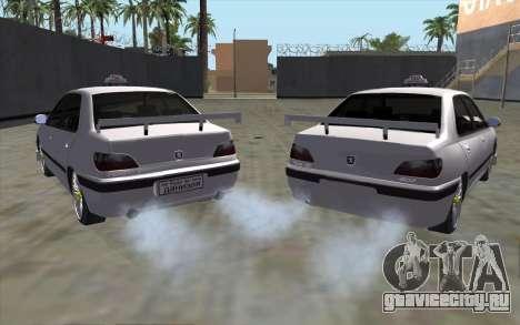 Peugeot 406 Taxi v2 для GTA San Andreas вид сзади слева