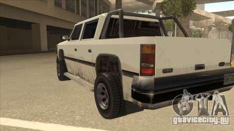 Declasse Rancher FXT для GTA San Andreas вид сзади
