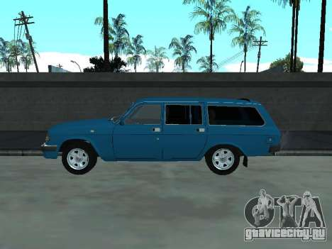 ГАЗ 310221 для GTA San Andreas вид сзади слева