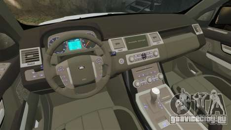 Range Rover Sport Autobiography 2013 Vossen для GTA 4 вид изнутри