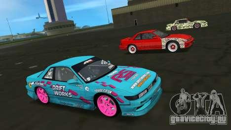 Nissan Silvia S13 Drift Works для GTA Vice City вид изнутри
