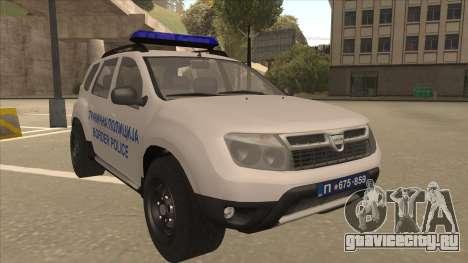Dacia Duster Granična Policija для GTA San Andreas вид слева
