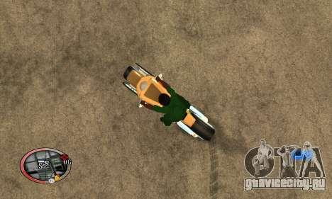 Tadpole Motorcycle для GTA San Andreas вид слева