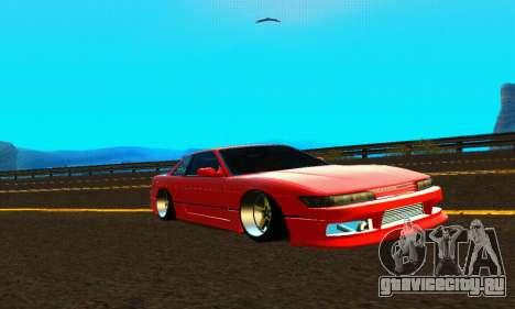 Nissan Silvia S13 HellaDrift для GTA San Andreas вид изнутри