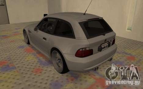 BMW Z3 M Power 2002 для GTA San Andreas вид сзади слева