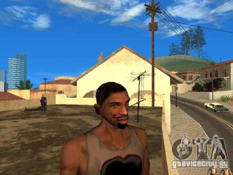 Новое лицо CJ для GTA San Andreas второй скриншот