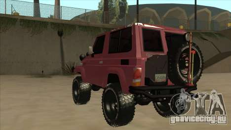 Toyota Machito Fj70 2009 V2 для GTA San Andreas вид сзади
