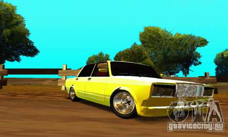 ВАЗ 2107 VIP для GTA San Andreas вид изнутри