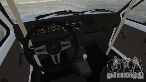 Volkswagen Golf MK1 GTI Update v1 для GTA 4 вид изнутри