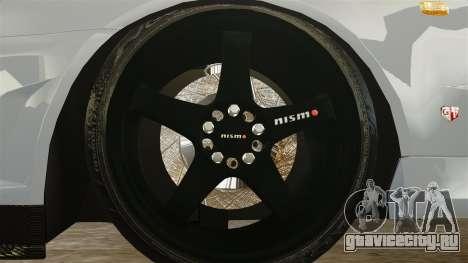 Nissan Skyline R34 для GTA 4 вид сзади