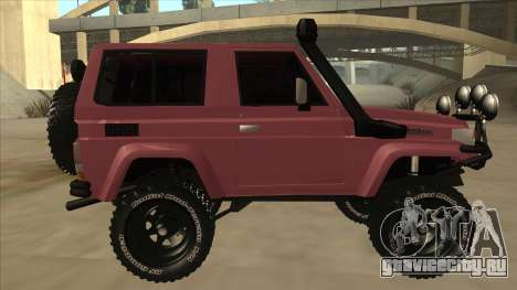 Toyota Machito Fj70 2009 V2 для GTA San Andreas вид сзади слева