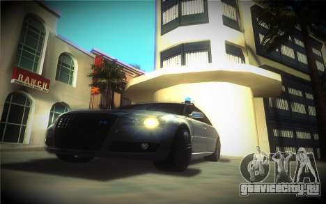 Audi A8L D3 для GTA San Andreas вид сзади