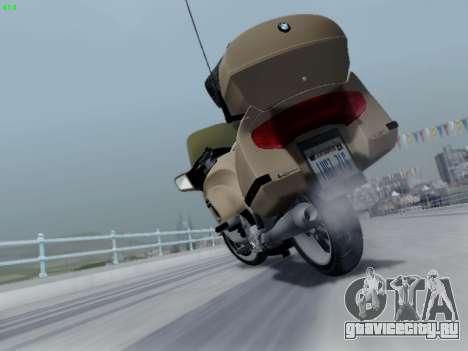 BMW K1200LT для GTA San Andreas вид сверху