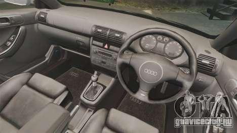 Audi S3 2001 для GTA 4 вид изнутри