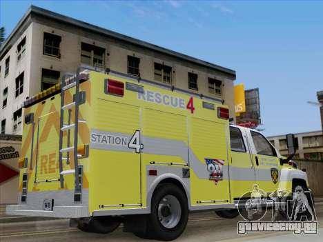GMC C4500 Topkick BCFD Rescue 4 для GTA San Andreas вид изнутри