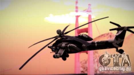 Mi-28N Havoc для GTA San Andreas вид сзади