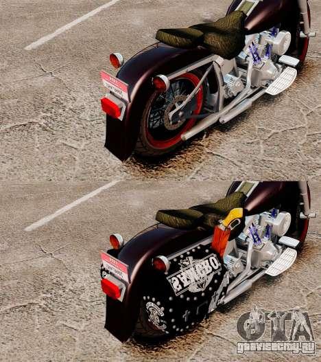 Harley-Davidson для GTA 4 вид сзади