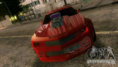 Chevrolet Camaro JR Tuning для GTA Vice City вид изнутри