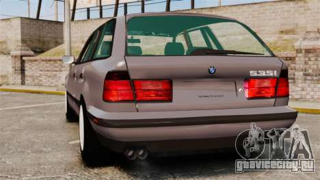 BMW 535 E34 Touring для GTA 4 вид сзади слева