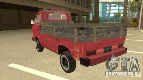 Volkswagen Transporter T3 Pritsche для GTA San Andreas вид сзади