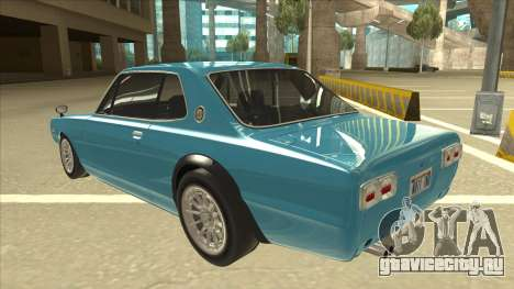 Nissan Skyline 2000 GT-R RB26DETT Black Revel для GTA San Andreas вид сзади